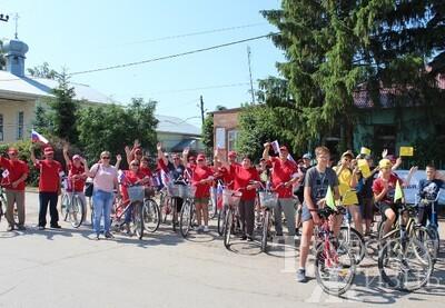 Велопарад  в  рамках  Дня  России