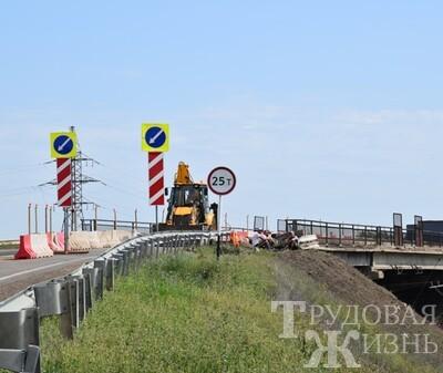 Идёт  ремонт  моста